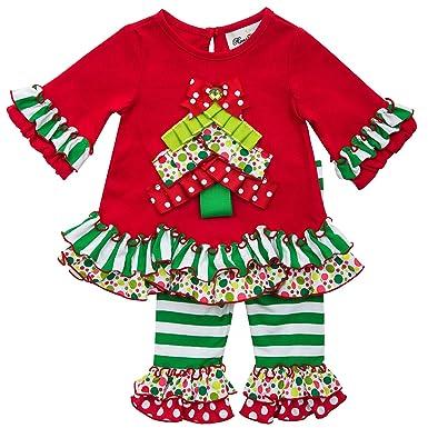 Rare Editions Girls Christmas Tree Holiday Dress Outfit Leggings , Red , 6M - Amazon.com: Rare Editions Girls Christmas Tree Holiday Dress Outfit