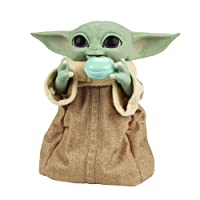 STAR WARS Galactic Snackin' Grogu 9.25-Inch-Tall Animatronic Toy with Over 40 Sound and Motion Combinations and Interactive Accessories