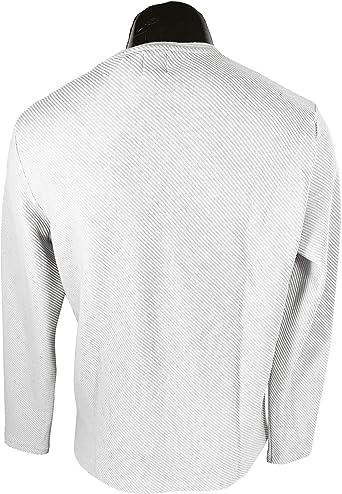 Zara 4805/400 suéter otomano con Textura para Hombre - Blanco ...