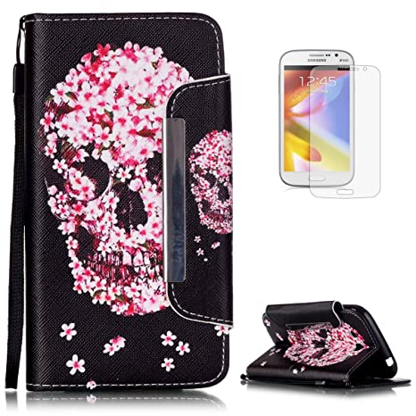 Samsung Galaxy Grand Neo Plus i9060 Elegante Colorido Wallet Funda[con HD Pantalla Protector],Carcasa Libro PU Premium Choque Absorción Leather Cuero ...