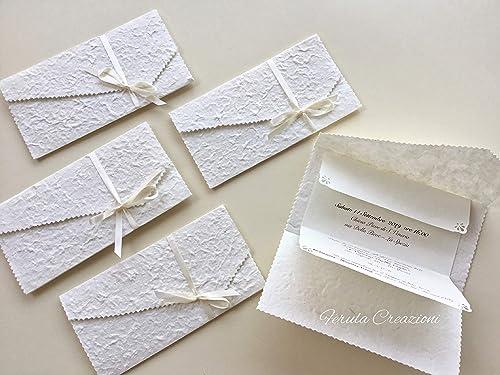 Partecipazioni Matrimonio Shabby.10 Partecipazioni Matrimonio Shabby Chic In Carta Cotton Complete