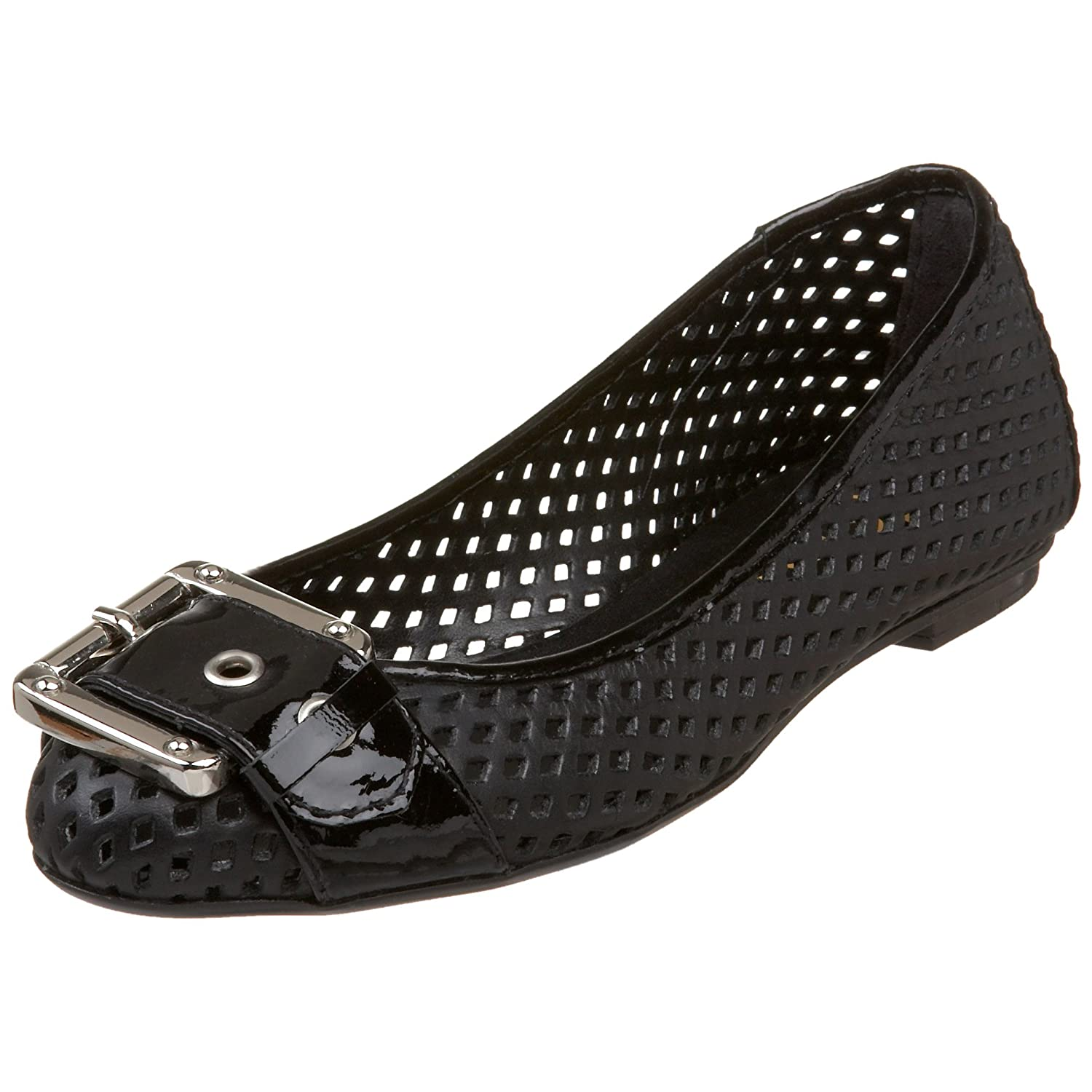 French Sole FS/NY Women's Waffle Ballet Flat B001T9NDGY 7.5 B(M) US|Black
