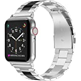 Wearlizer Stainless Steel Compatible with Apple Watch Band 38mm 42mm Women Men,Ultra-Thin Lightweight Color Matching…