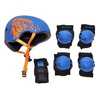 Rollerface Protectores con Casco, color Azul, Chico