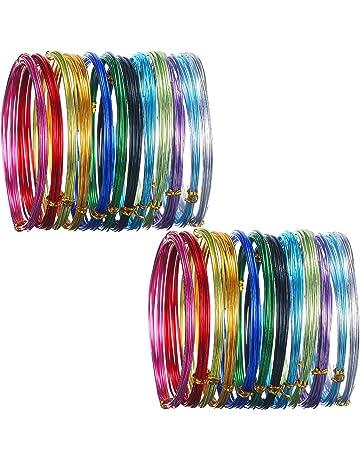 24 rollos de alambre de aluminio multicolor para manualidades, metal flexible para creación de arte