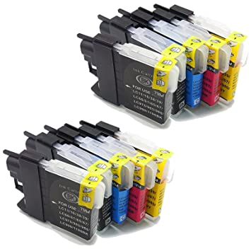 10x (4Black+2Cyan+2Meganta+2Yellow) ink cartridges replace to Brother LC985 Compatible for Brother DCP J125 J315W J515 Brother MFC J220 J265W J410 ...