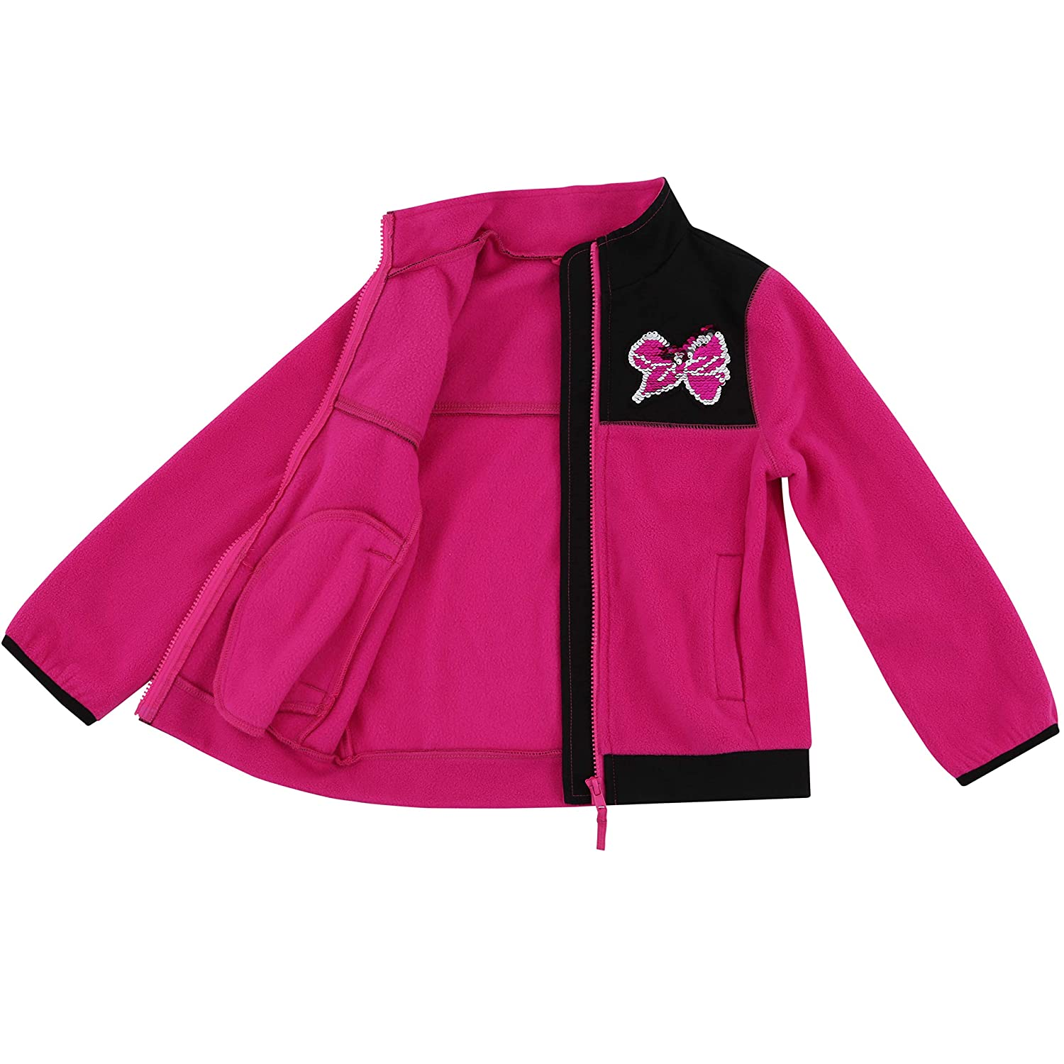 Dreamwave Toddler and Big Girl Relaxed Fit Lightweight Zip Up Fleece Jacket Hoodie Sweatshirt Pullover