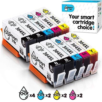 Smart Ink Reemplazo Compatible del Cartucho de Tinta HP 364 XL 364XL High Yield Pack (4BK & 2C/M/Y) para HP Photosmart 5510 5514 5515 5522 5525 6510 ...