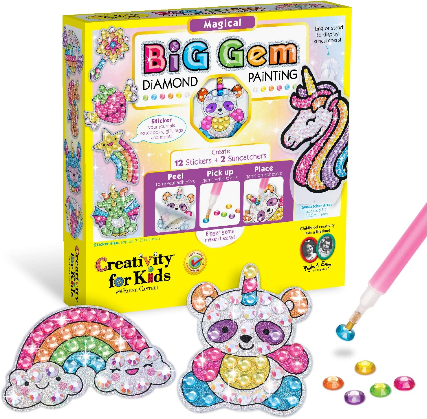 XXTOYS Big Gem Diamond Painting for Kids Arts /& Crafts for Kids 5D Mosaic Painting Stickers Kit Great Crafts for Girls Creative Gift for Ages 6-8 12pcs Diamond Art