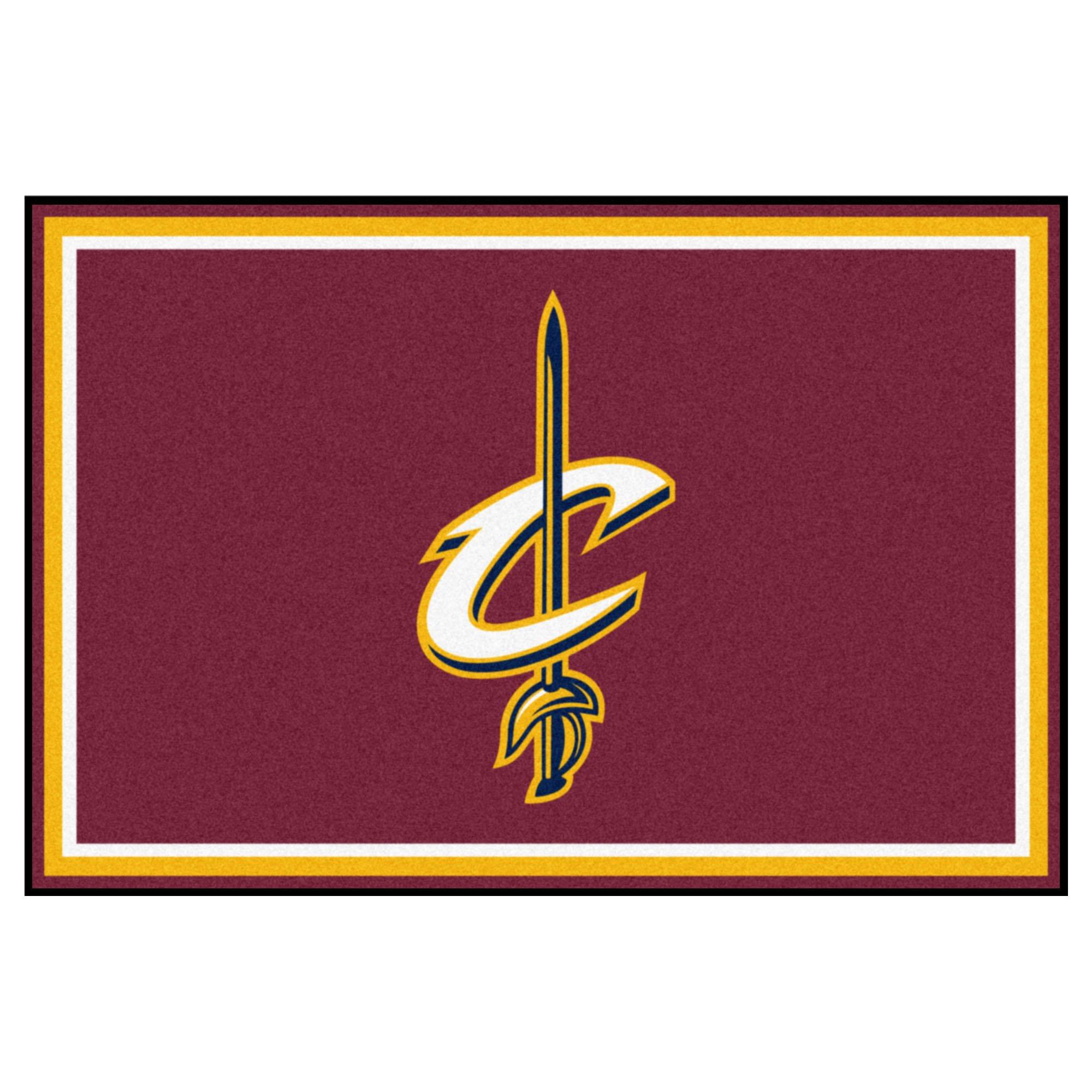 FANMATS NBA Cleveland Cavaliers Nylon Face 5X8 Plush Rug