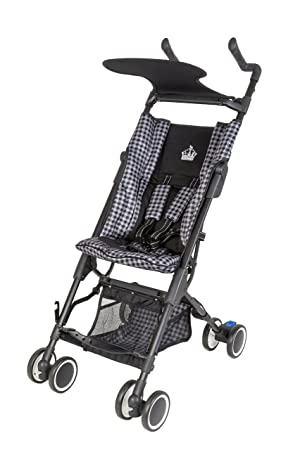 little royals windsor ultra compact folding stroller royal black
