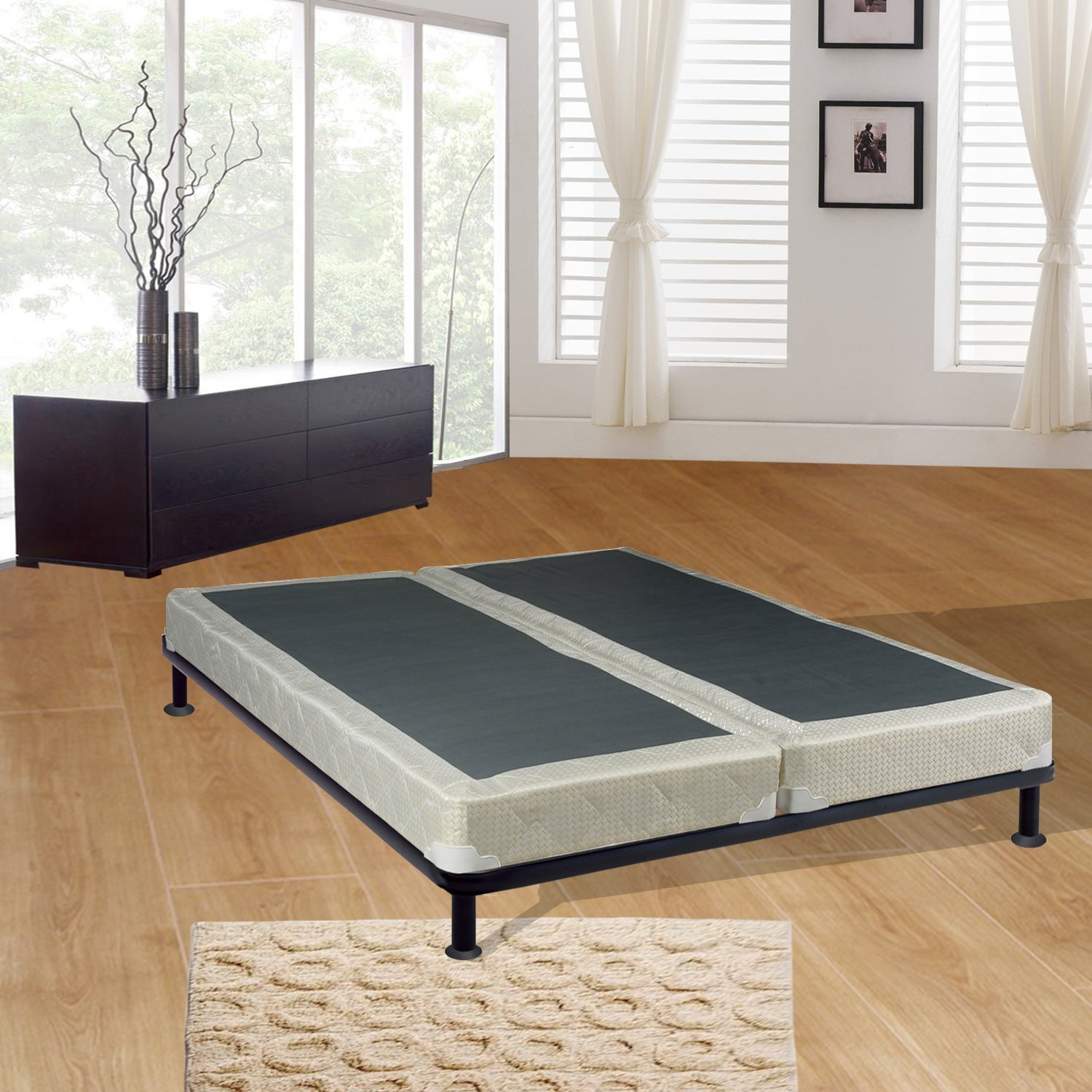 Amazon Com Spring Sleep 4 Queen Size Split Foundation Box Spring For Mattress Splendor Collection Kitchen Dining