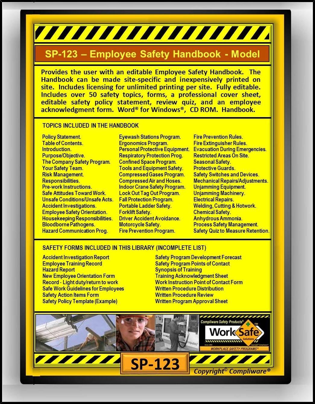 Amazoncom SP CORPORATE EMPLOYEE SAFETY HANDBOOK MODEL - Employee safety handbook template