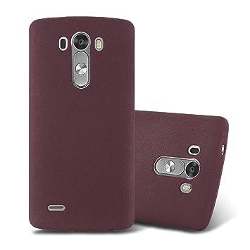 Cadorabo Funda para LG G3 en Frost Lila Burdeos - Cubierta Proteccíon de Silicona TPU Delgada e Flexible con Antichoque - Gel Case Cover Carcasa ...