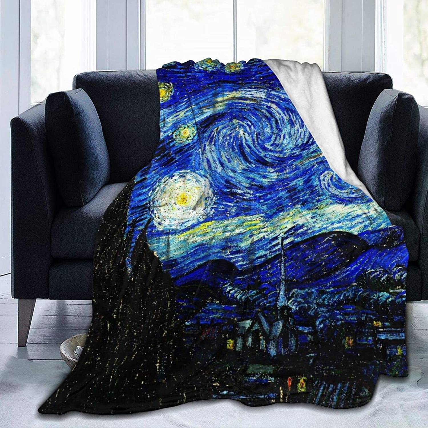 """Janrely Ultra-Soft Micro Fleece Blanket,Starry Night,Home Decor Warm Throw Blanket for Couch Bed,60""""X 50"""""""