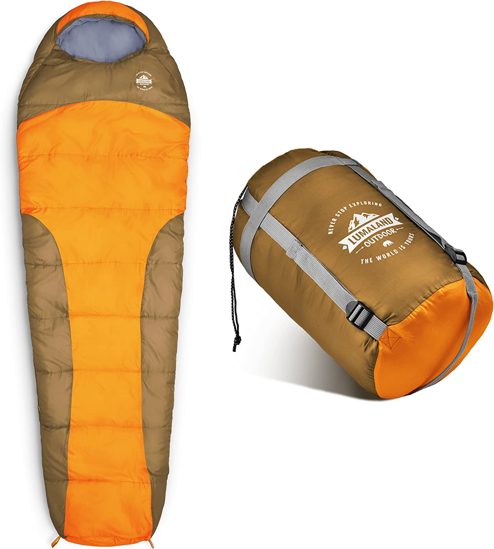 230 x 80 cm ca Lumaland Outdoor Sacco a Pelo Sacca per Il Trasporto Inclusa 50 x 25 cm Confezione ca