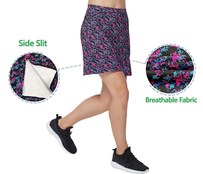 Westkun Falda de Golf Tenis Skort Mujer Negra Negra Pantalón Ropa ...