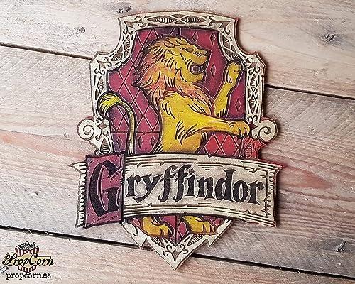 Cartel Casa Gryffindor hecho en madera, pintado y envejecido ...