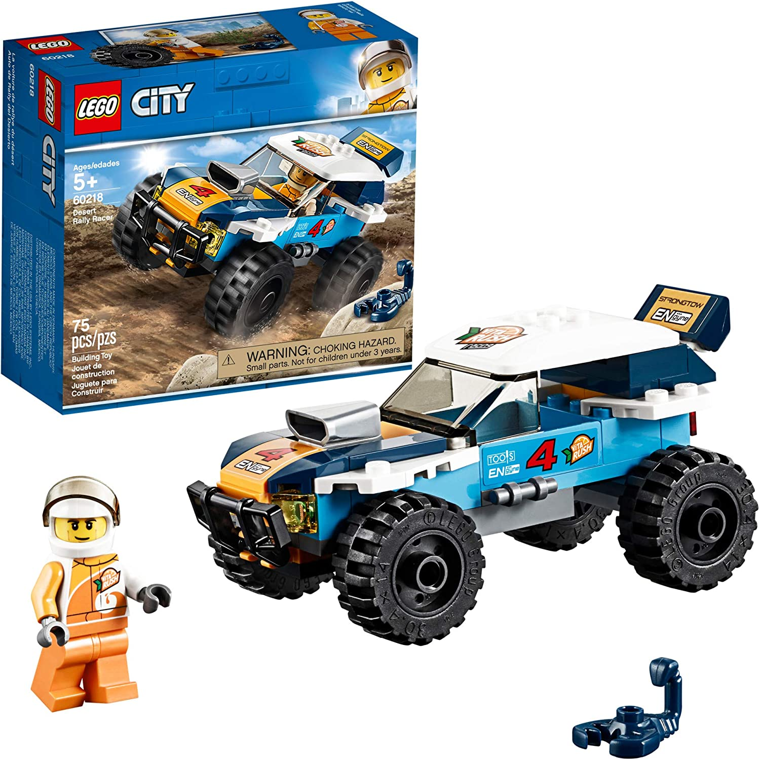 LEGO City Great Vehicles Desert Rally Racer 60218 Building Kit (75 Pieces)