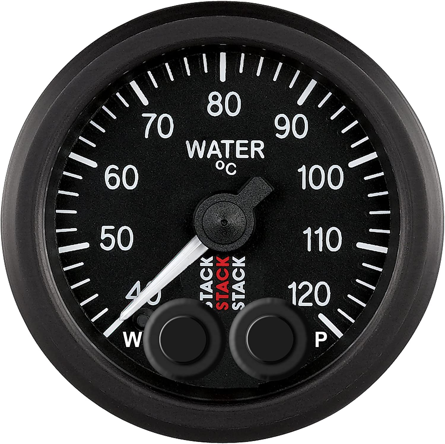 USSTOCK 2Inch 52mm Universal Car Pointer Water Temperature Temp Gauge 40-120 Whi