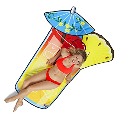 BigMouth Inc Gigantic Tropical Drink Beach Blanket– Fun Beach Blanket Perfect for The Beach, Pool, Lake and More, Machine Washable