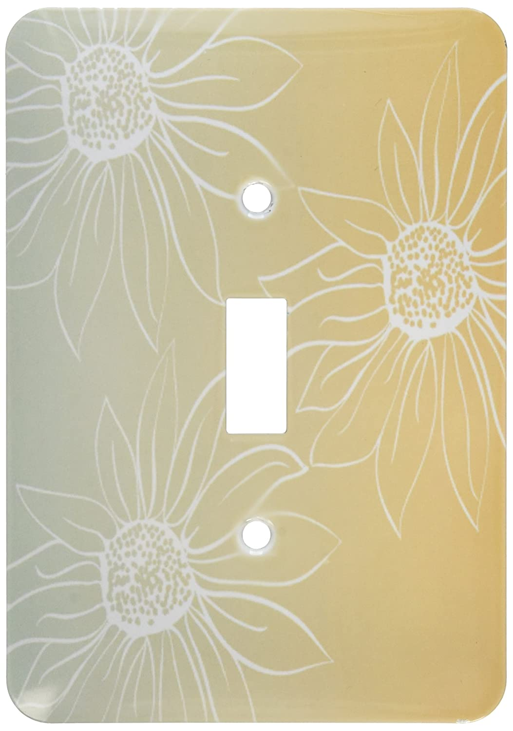3dRose lsp/_213071/_1Peach And White Large Daisies Single Toggle Switch Multicolor