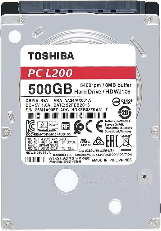 Toshiba Bulk L200 - Disco Duro de 500Gb: Toshiba: Amazon.es ...