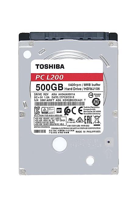 amazon com toshiba l200 500gb mobile 2 5 inch sata 5400rpm internal rh amazon com
