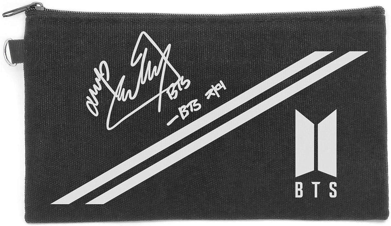 Fanstown BTS Kpop Pencil case Canvas Messenger Bag Signature with lomo Cards