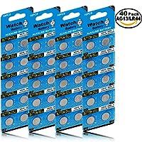 Blister 40 Piles Boutons AG13 LR44/LR1154/357 sans Mercure (AG13&LR44-40 Piles)