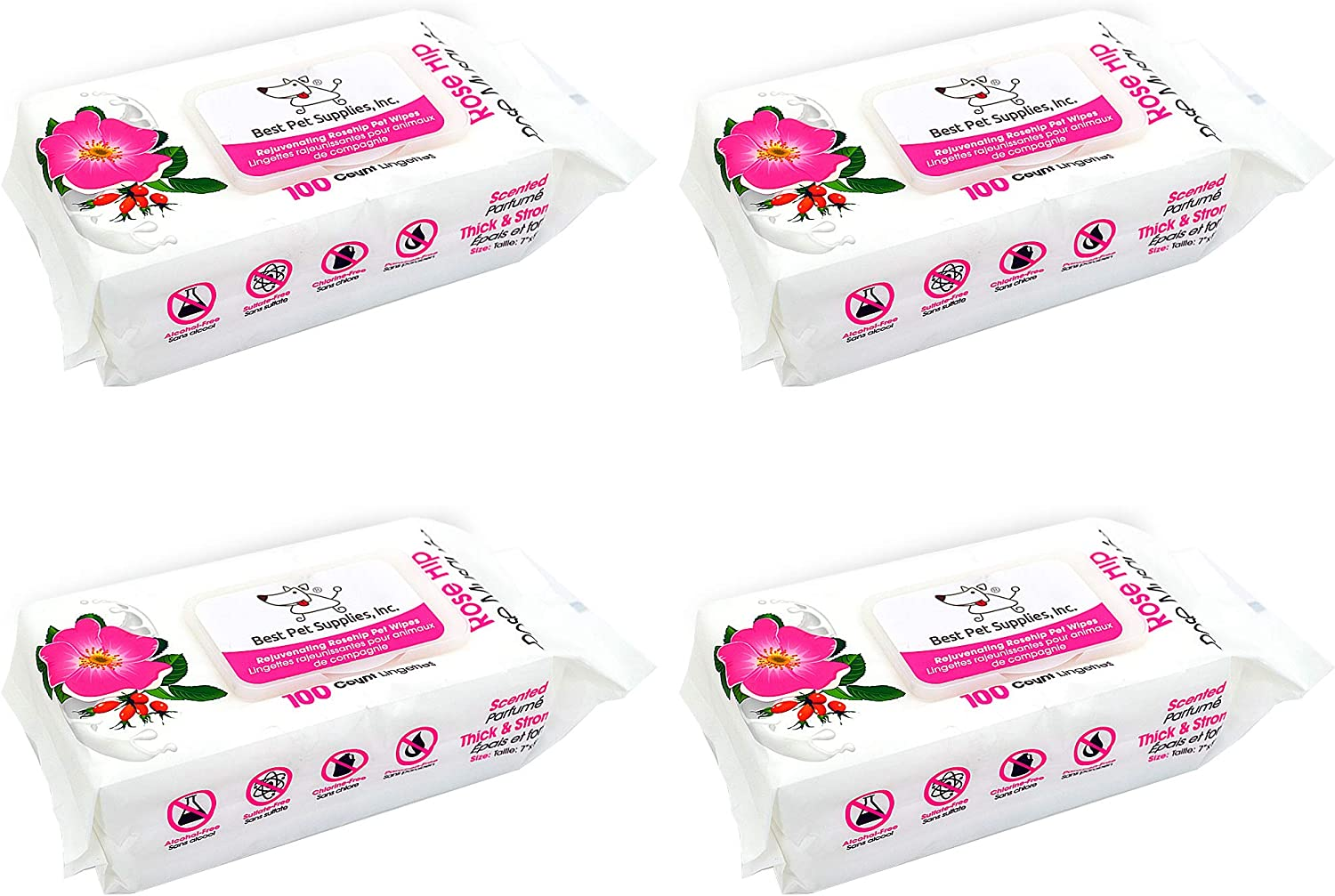 Pet Wipes for Dogs /& Cats Strong Grooming Wipes