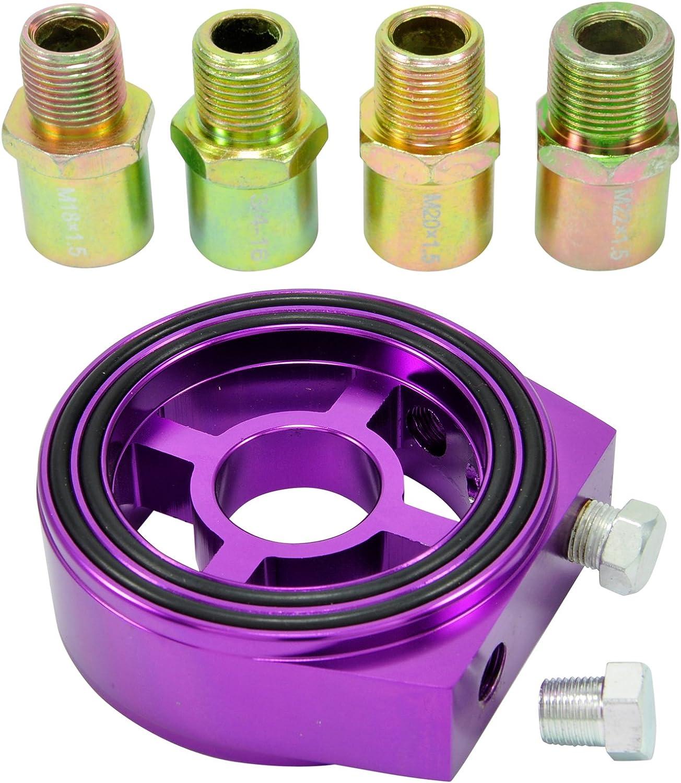 /16 Filtro olio Sandwich Adattatore Piastra 1//8/npt oeltemperatur sensore M18/M20/M22/3//4/