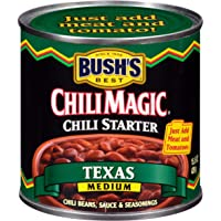 BUSH'S BEST Canned Texas Recipe Chili Magic Chili Beans Starter (Pack of 12), Source of Plant Based Protein and Fiber, Low Fat, Gluten Free, 15.5 oz