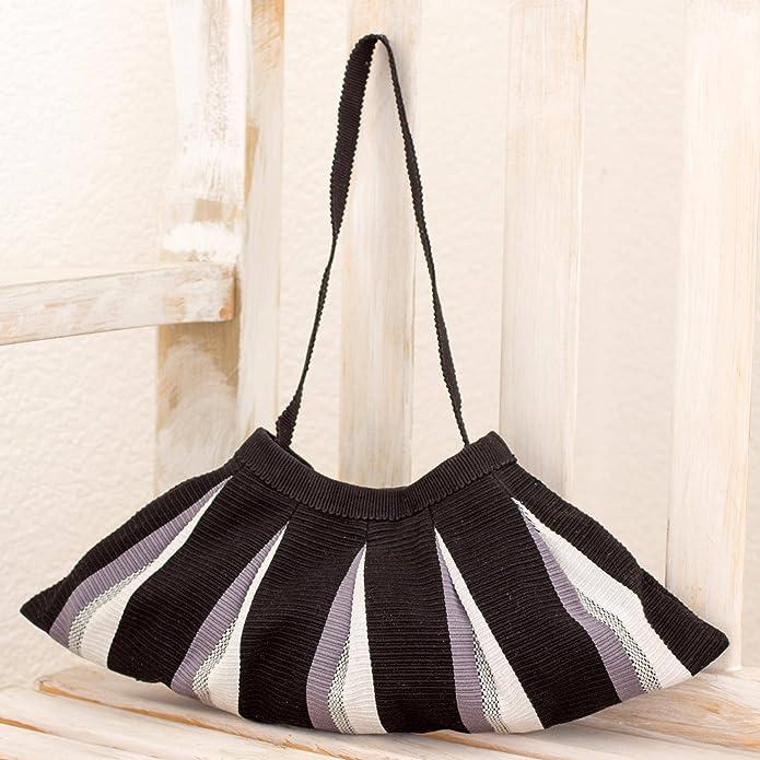 Novica Cotton shoulder bag, Shadow Fan