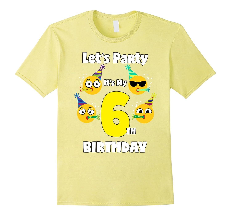 Emoji Birthday Shirt For 6 Six Year Old Girl Boy Toddler Fun CD