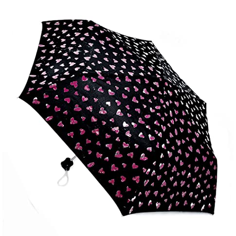 magical umbrella that changes colour when wet - hearts go from white to red