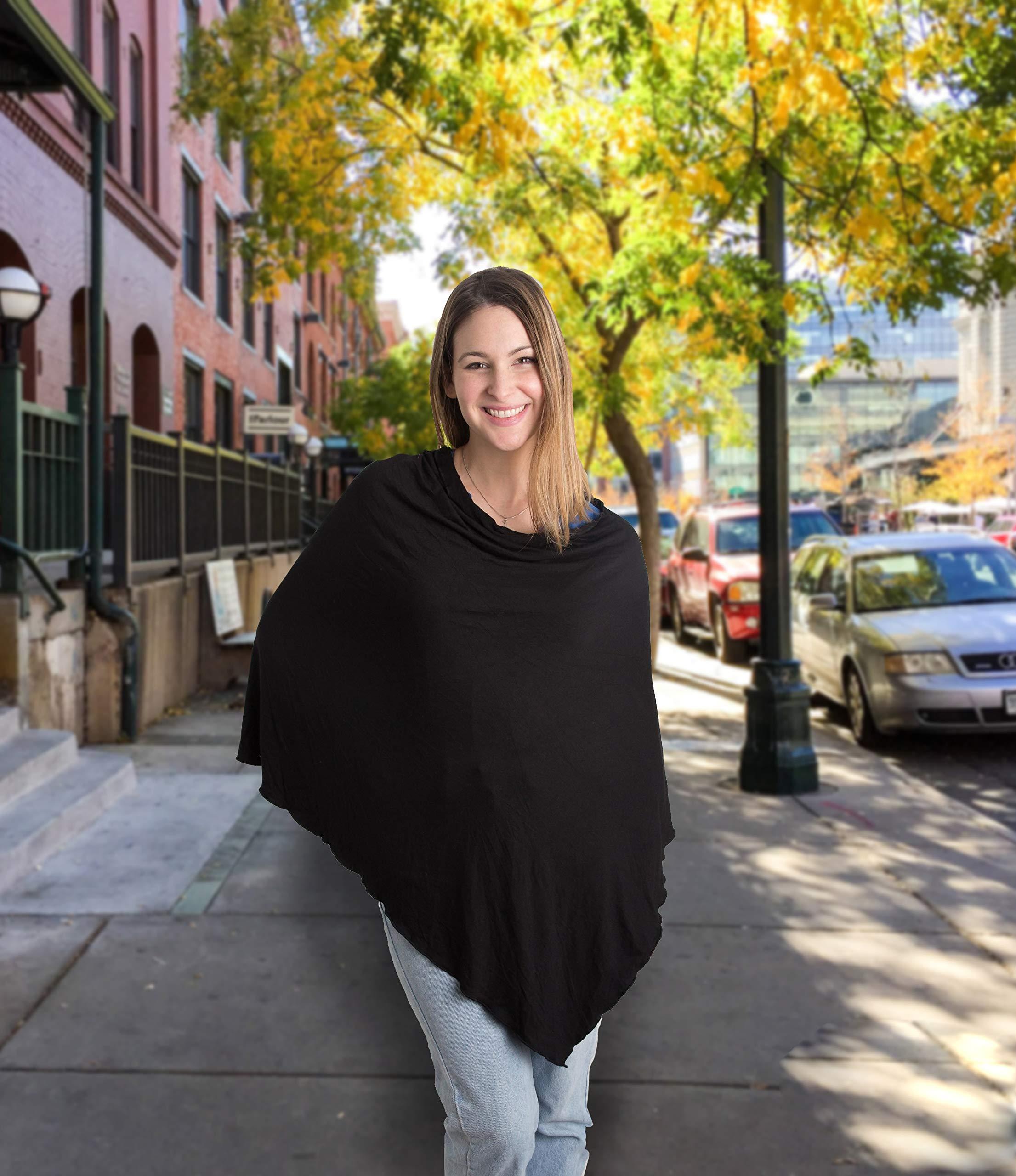Little Me Nursing Shawl, Black, Nursing Covers Breastfeeding Cover by Little Me