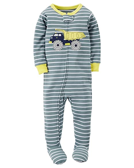 7bac6076bd19 Amazon.com  Carters Baby Boys Snug Fit Cotton Striped Footie (12 ...
