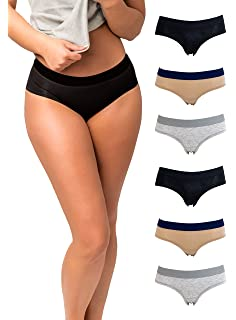 Emprella Womens Underwear Cotton, Women 6 Pack Hipster Ladies Panties, Size S-XL