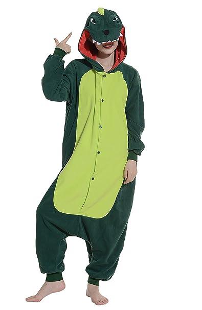 Cosplay Animales Pijamas Mujer Invierno Novedad Navidad Traje Disfraz Adulto Dragón Verde