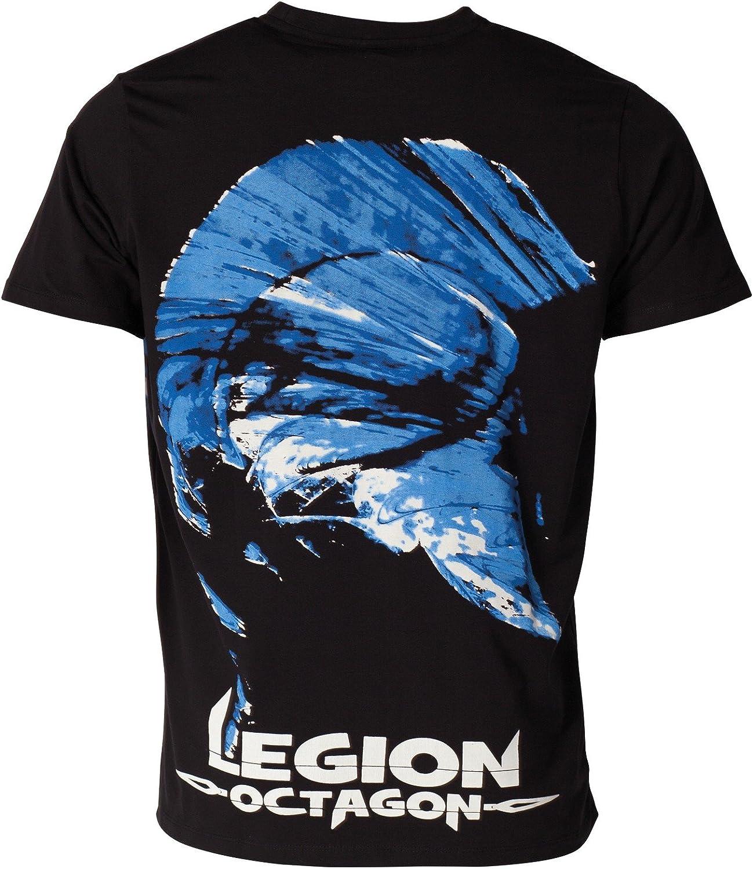 Legion Octagon T-Shirt L.O Gr/össe Schwarz Blue Head Farbe XL