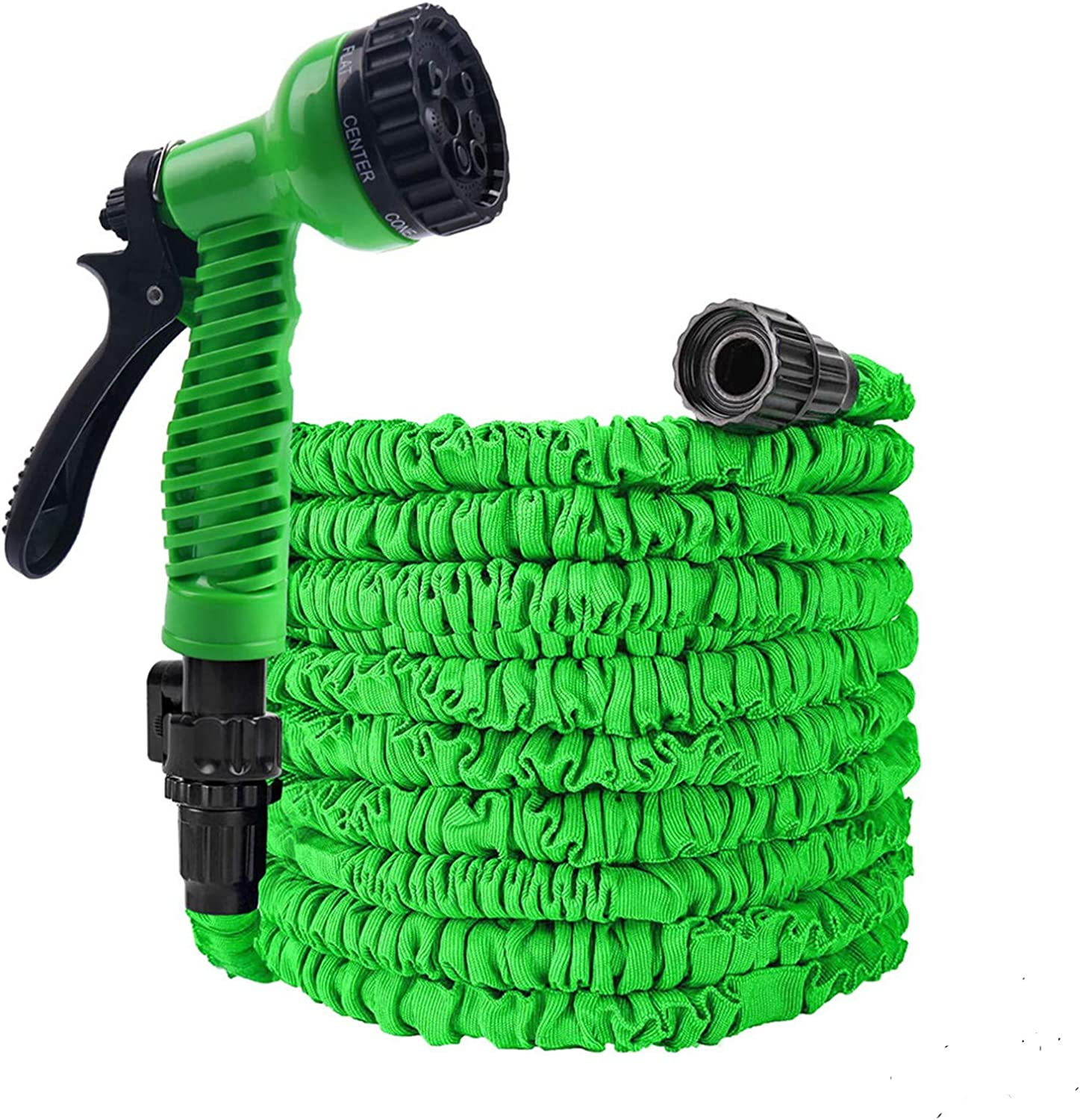 Flantor Garden Hose 25ft Water Hose, Expandable Garden Hose with 7-Pattern Spray Nozzle Collapsible Hose with Lightweight Triple Latex Core for Outdoor Gardening (25ft, Green)