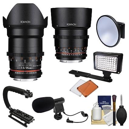 Amazon.com : Rokinon 35mm & 85mm T/1.5 Cine DS Full Frame Lenses + ...