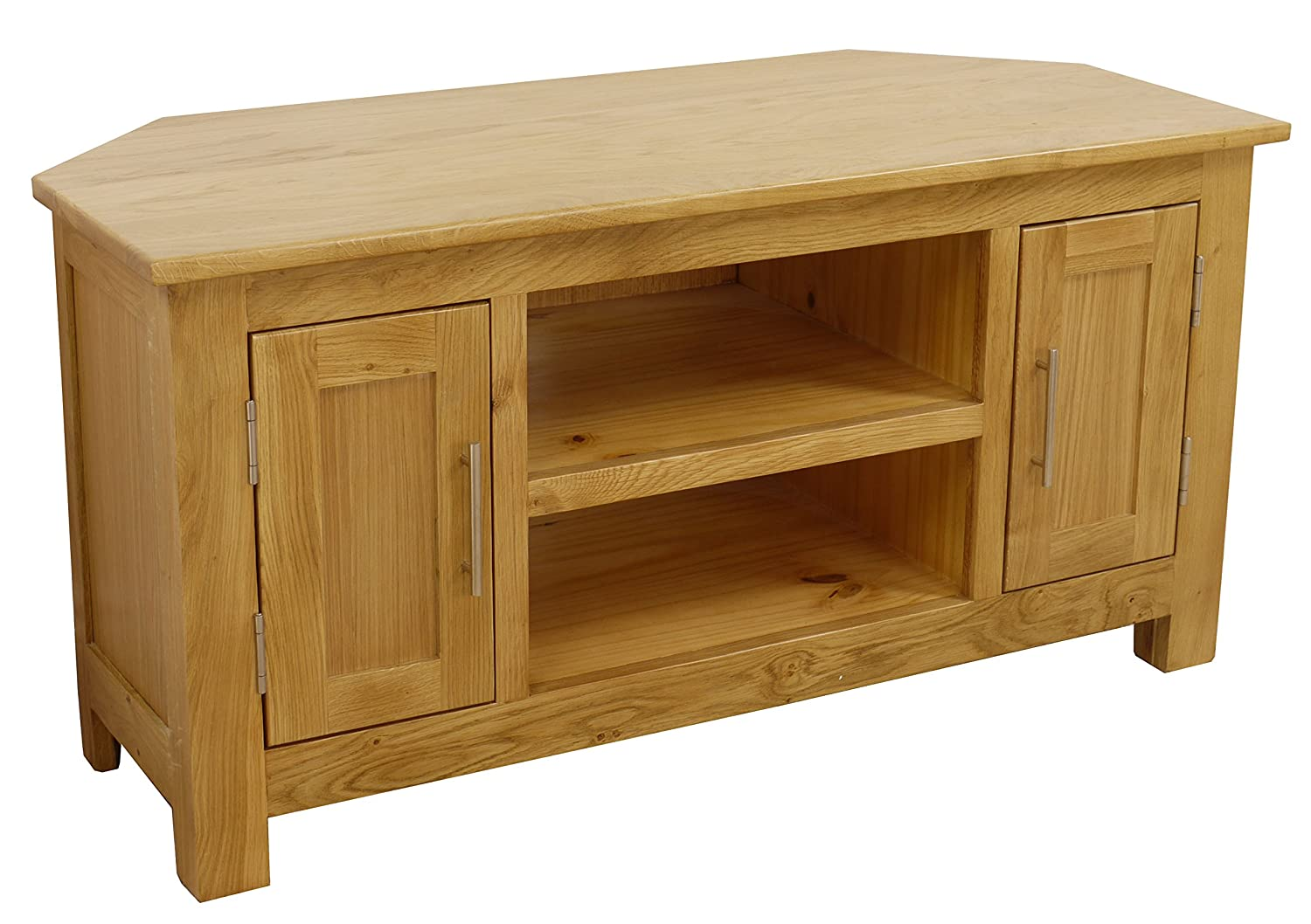 dad2f1fdad Oakland - Chunky Oak Corner Entertainment TV Stand - DVD Video Unit - Solid  Living Room Cabinet - W 106cm: Amazon.co.uk: Kitchen & Home