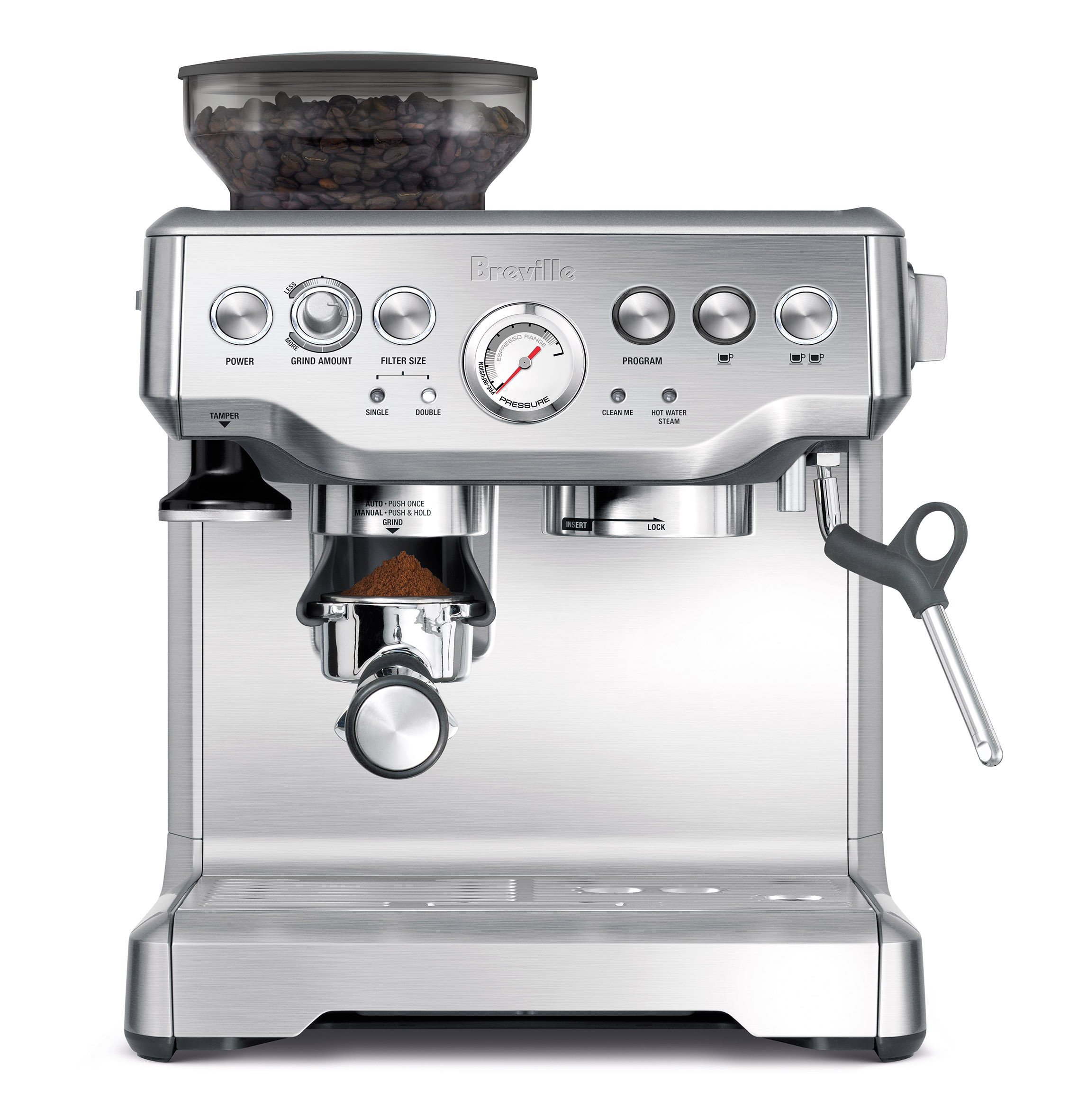Breville Bes870xl Barista Express Espresso Machine Semi Old Town Coffe 2 In1 Isi 15 Automatic Pump Machines Kitchen Dining