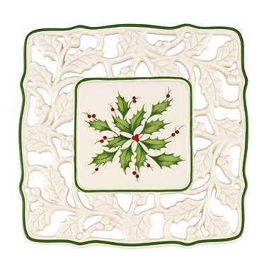 Lenox Holiday Pierced Trivet,Ivory