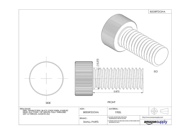 Knurl Grip Set Screw Alloy Steel Thread Size 3//8-16 Thread Size 3//8-16 FastenerParts