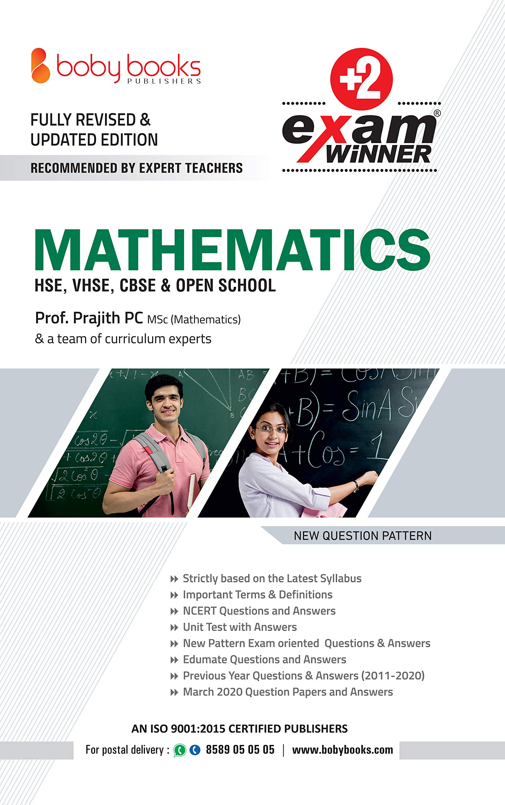 Buy Plus Two / Class 12 Mathematics Exam Winner Boby Books (KERALA SYLLABUS)  Book Online at Low Prices in India | Plus Two / Class 12 Mathematics Exam  Winner Boby Books (KERALA