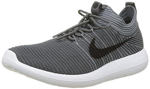 wholesale dealer d33bf 0f174 Nike Roshe Two Flyknit V2, Scarpe Running Uomo, Grigio (Dark Grey black
