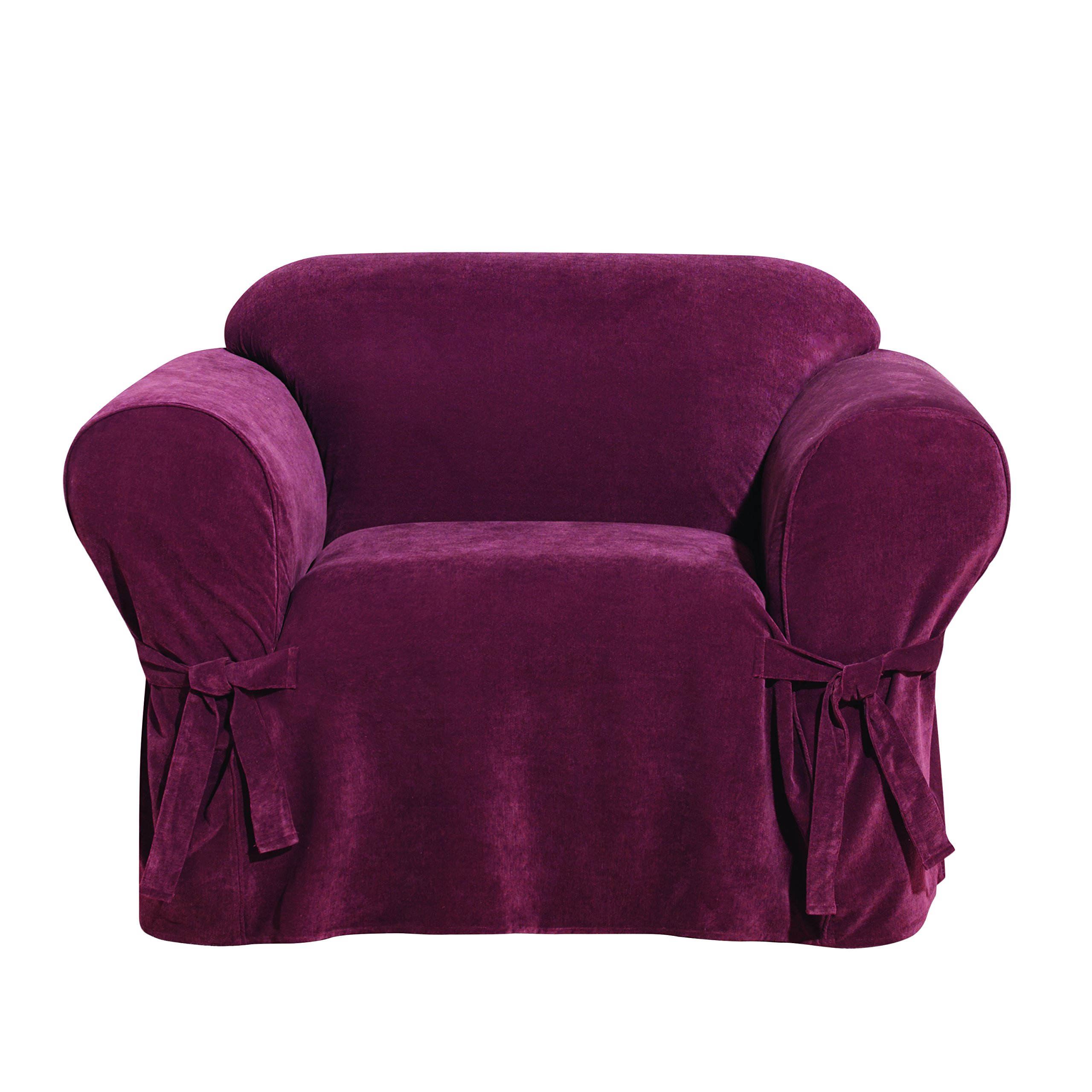Sure Fit Everyday Chenille 1-Piece - Chair Slipcover - Garnet (SF44442) by Surefit